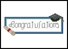 Graduation Card - Cross Stitch Chart