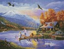 Grandpa's Cabin - Cross Stitch Chart