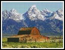 Grand Tetons Barn - Cross Stitch Chart