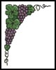 Grape Corner - Cross Stitch Chart