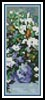 Great Vase of Flowers Bookmark - Cross Stitch Chart