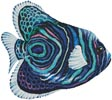 Green Blue Purple Fish - Cross Stitch Chart