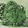 Green Leopard - Cross Stitch Chart