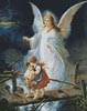 Guardian Angel Watching over Children - Cross Stitch Chart