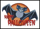 Halloween Bat - Cross Stitch Chart