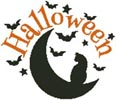 Halloween Cat and Moon - Cross Stitch Chart