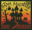 Halloween House Square - Cross Stitch Chart