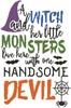 Halloween Quote - Cross Stitch Chart
