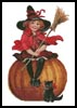 Halloween Witch - Cross Stitch Chart