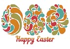 Happy Easter Eggs - Cross Stitch Chart