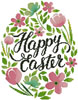 Happy Easter Floral Egg (Pink) - Cross Stitch Chart