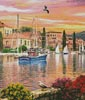 Harbour Sunset (Crop 1) - Cross Stitch Chart
