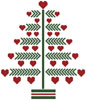 Heart Christmas Tree - Cross Stitch Chart
