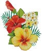 Hibiscus Arrangement 2 - Cross Stitch Chart