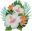 Hibiscus Arrangement 4 - Cross Stitch Chart
