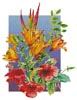 Hibiscus and Daylilies - Cross Stitch Chart