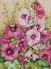 Hollyhocks in Evening Glow - Cross Stitch Chart