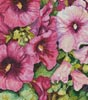 Hollyhocks in Evening Glow (Crop) - Cross Stitch Chart