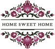 Home Sweet Home Polish Folk Art Design 3 - Cross Stitch Chart