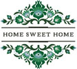 Home Sweet Home Polish Folk Art Design 4 - Cross Stitch Chart