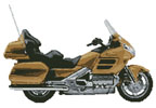 Honda Goldwing Tan Motorcycle - Cross Stitch Chart