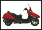 Honda Helix Scooter - Cross Stitch Chart