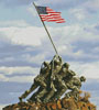 Iwo Jima Memorial - Cross Stitch Chart