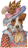 Jack Russell Mademoiselle - Cross Stitch Chart