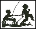 Kids with wagon - Cross Stitch Chart