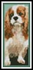 King Charles Cavalier Bookmark - Cross Stitch Chart