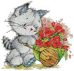 Kitty with Cart - Cross Stitch Chart