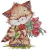 Kitty with Presents 2 - Cross Stitch Chart