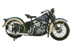 1936 Harley Davidson Knucklehead - Cross Stitch Chart