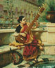 Lady Playing Sitar - Cross Stitch Chart