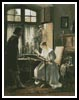 Lady Seated at her Needlework - Cross Stitch Chart
