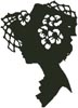 Lady Silhouette 12 - Cross Stitch Chart