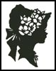 Lady Silhouette 4 - Cross Stitch Chart