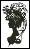 Lady Silhouette 6 - Cross Stitch Chart