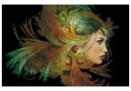Lady with Elegant Headdress - Cross Stitch Chart