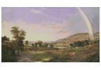 Landscape with Rainbow (Large) - Cross Stitch Chart