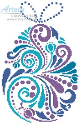 Abstract Easter Egg 1 - Cross Stitch Chart - Click Image to Close
