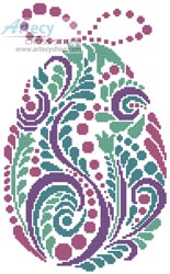 Abstract Easter Egg 3 - Cross Stitch Chart - Click Image to Close