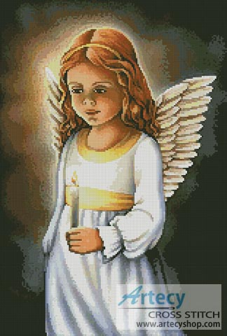Angel of the Light - Cross Stitch Chart - Click Image to Close