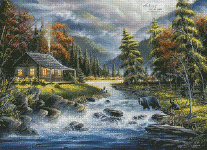 As Autumn Approaches - Cross Stitch Chart - Click Image to Close