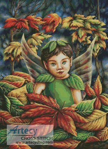 Autumn Fairy - Cross Stitch Chart - Click Image to Close