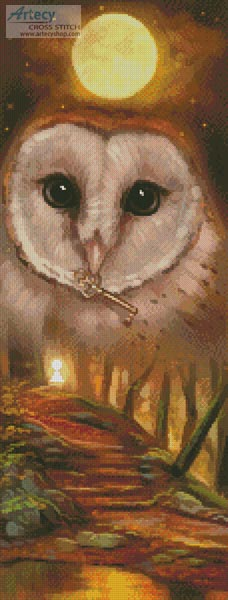 Autumn Owl - Cross Stitch Chart - Click Image to Close