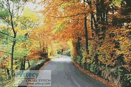 Autumn Road Photo - Cross Stitch Photo - Click Image to Close