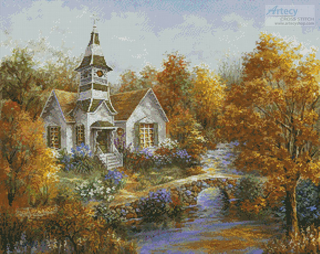 Autumn Worship - Cross Stitch Chart - Click Image to Close