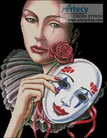 Behind the Mask - Cross Stitch Chart - Click Image to Close