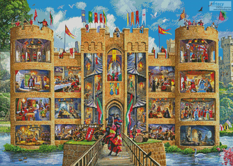 Castle Cutaway - Cross Stitch Chart - Click Image to Close
